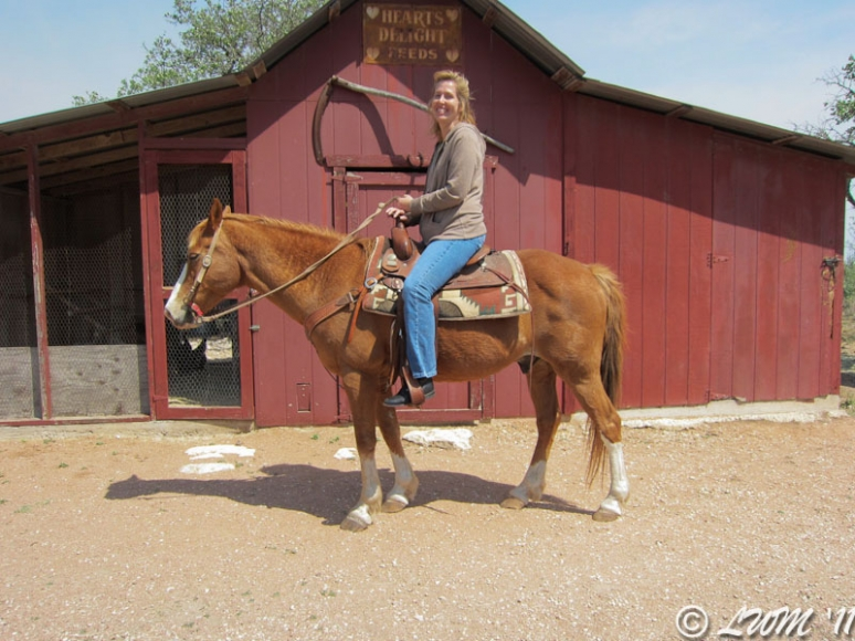 Leecy On Horseback For The First Time