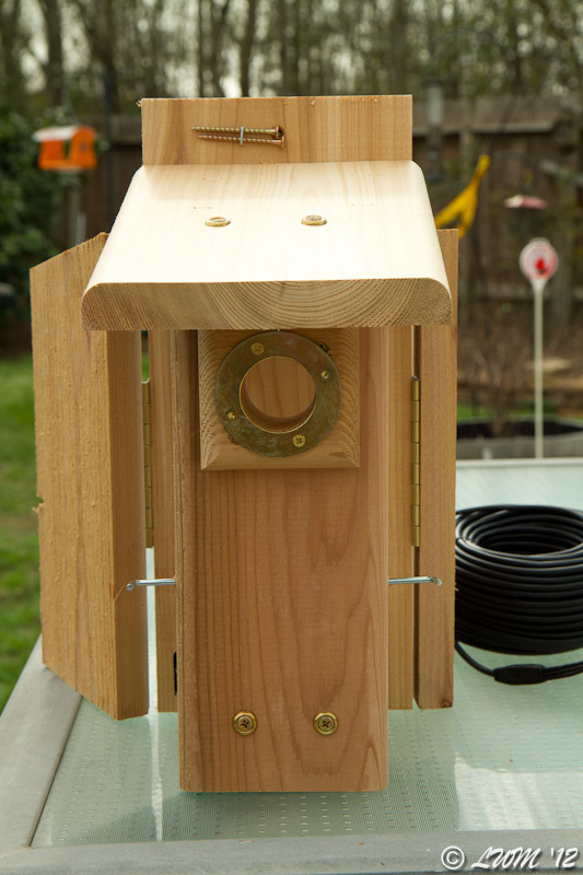 Bluebird House With Hidden Bird Cam Front View