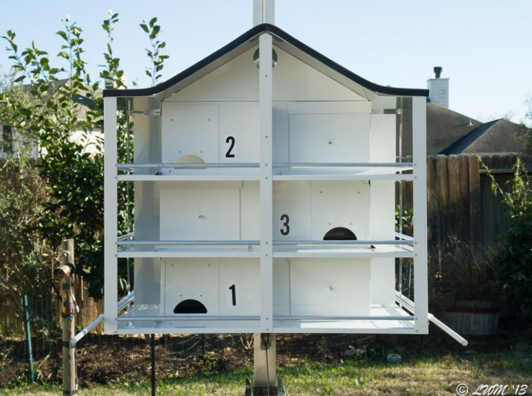 Twelve Room Trendsetter Purple Martin Housing Up Close